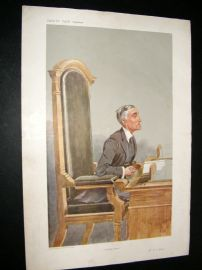Vanity Fair Print 1907 Henry Chartres Biron, Legal